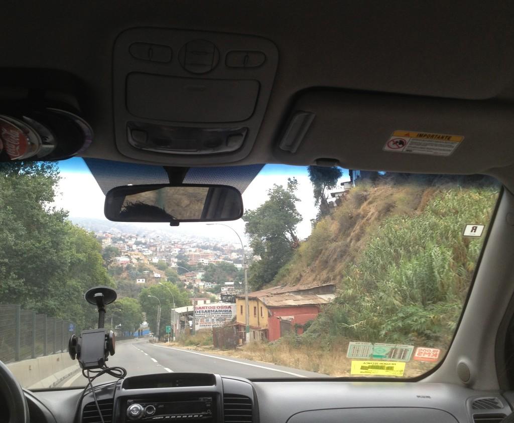 driving to valparaiso