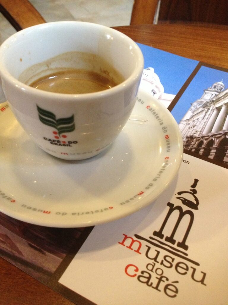 coffee at the coffee museum in santos brazil