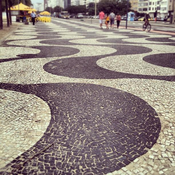 copacabana beach sidewalk