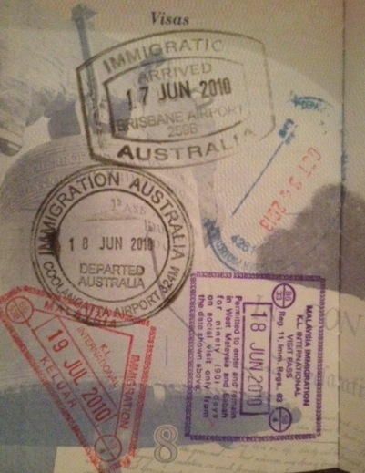 Now For The Passport Stamps From Around World This Is First Page Where You Can Add These Are Ones Malaysia And Australia