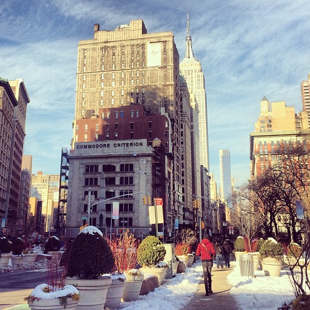 Quick Picture Stop at Flatiron Plaza New York City