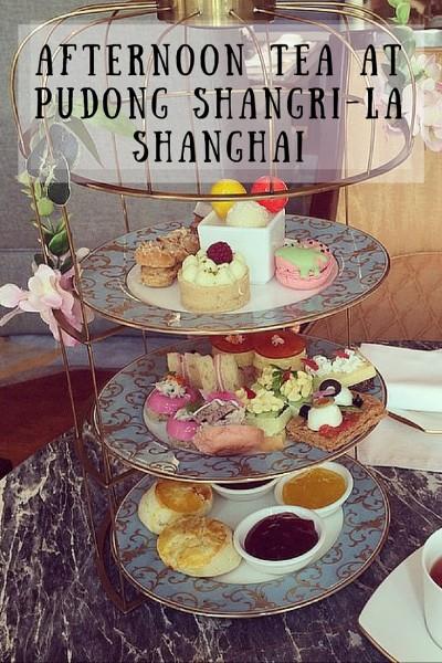 afternoon tea at pudong shangri-la shanghai