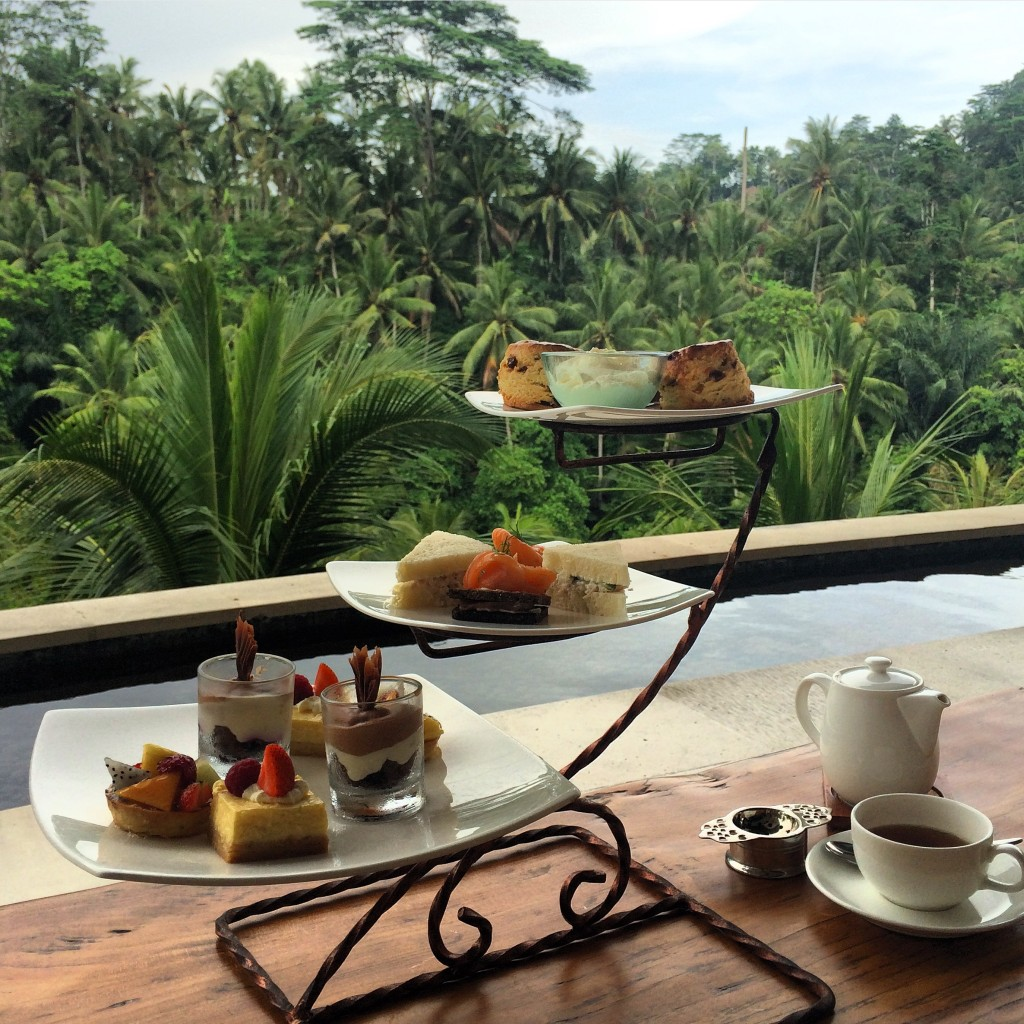 afternoon tea at four seasons bali at sayan