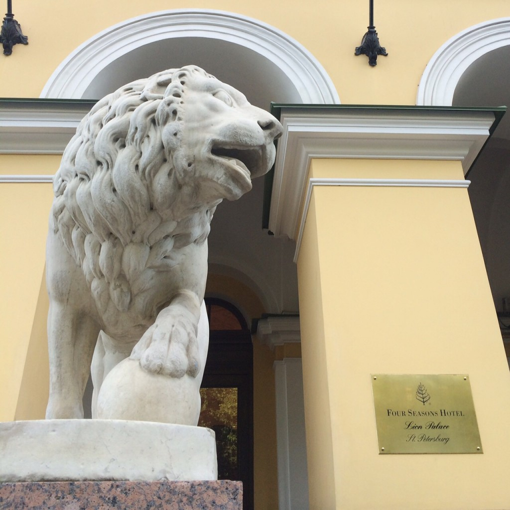lions at four seasons hotel lion palace st petersburg