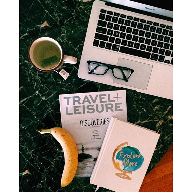 Workspace: Travel and Bananas