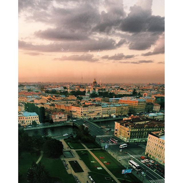 #ThrowbackThursday: Sky Bar View in St. Petersburg Russia
