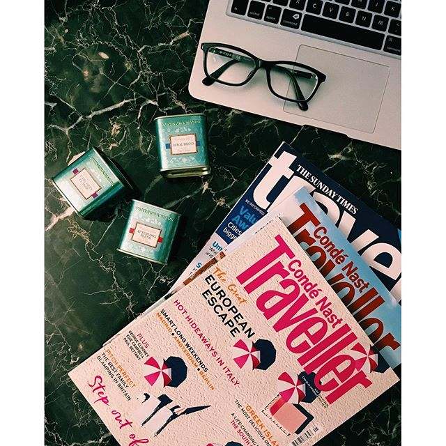 Photo of the Day: UK Tea and Magazines