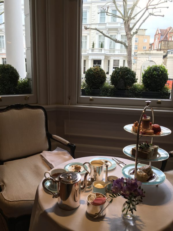 afternoon tea at the kensington hotel london
