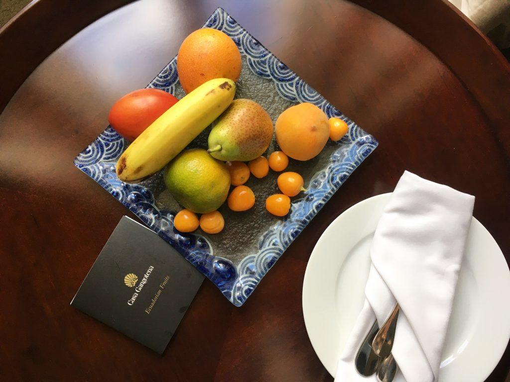 casa gangotena quito ecuador fruits