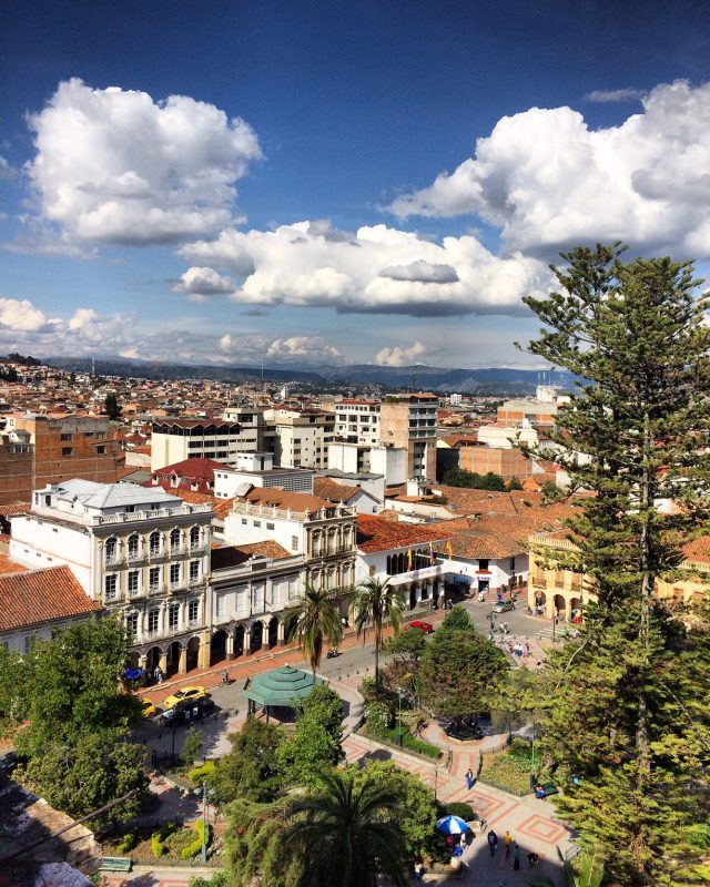 view from cuenca cathedral