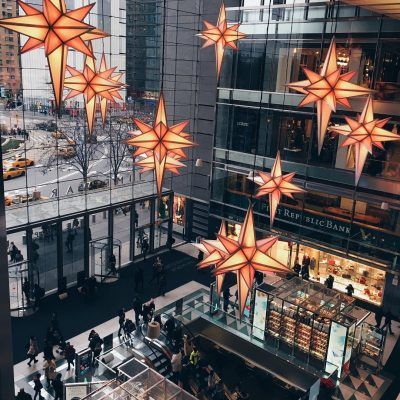 Photo of the Day: Holiday Stars at the Shops at Columbus Circle