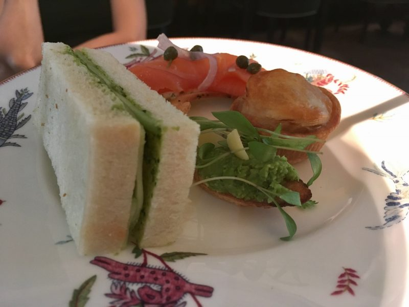 sandwiches at crosby street hotel