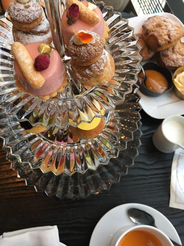 baccarat hotel afternoon tea set