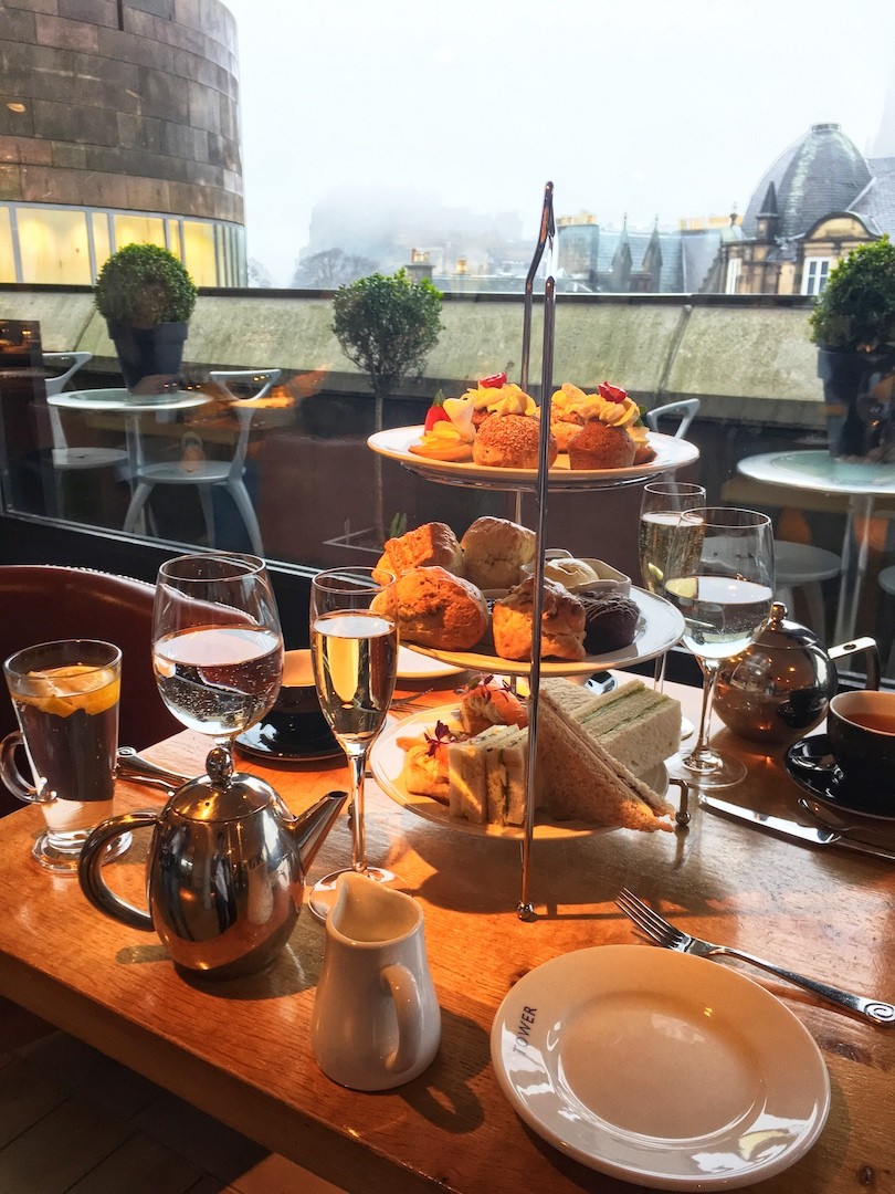 The Tower Restaurant scotland afternoon tea spread