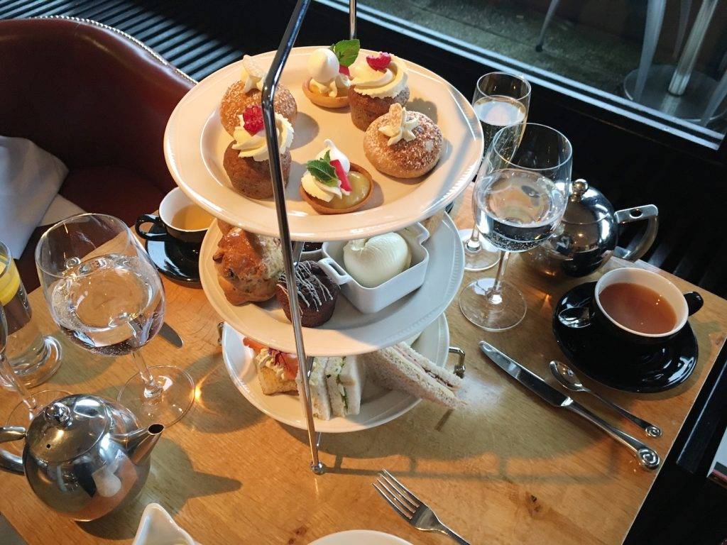 The Tower Resturant scotland afternoon tea above