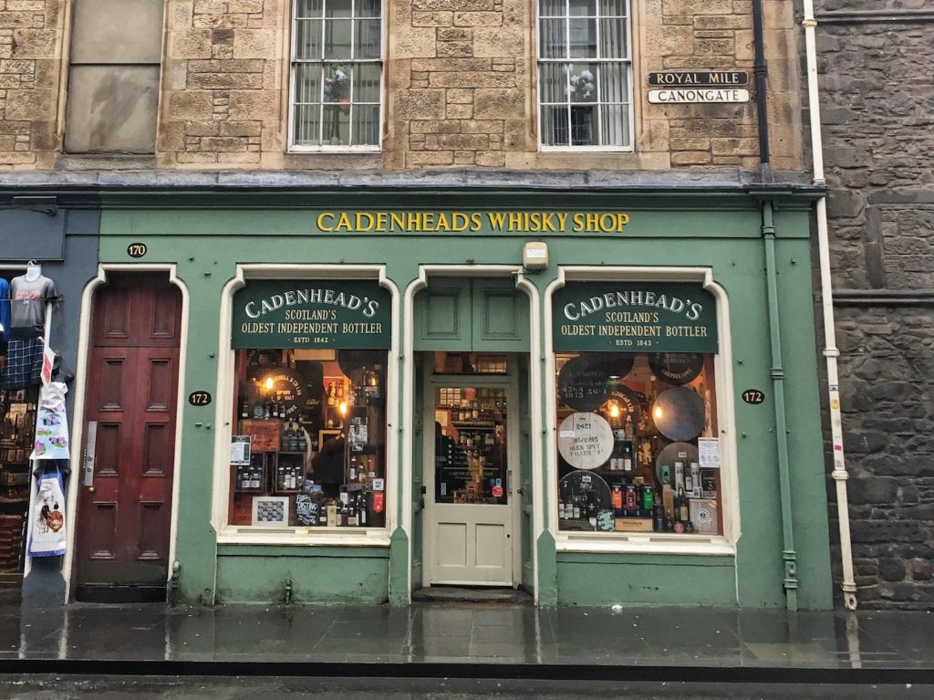 food tour whiskey store edinburgh
