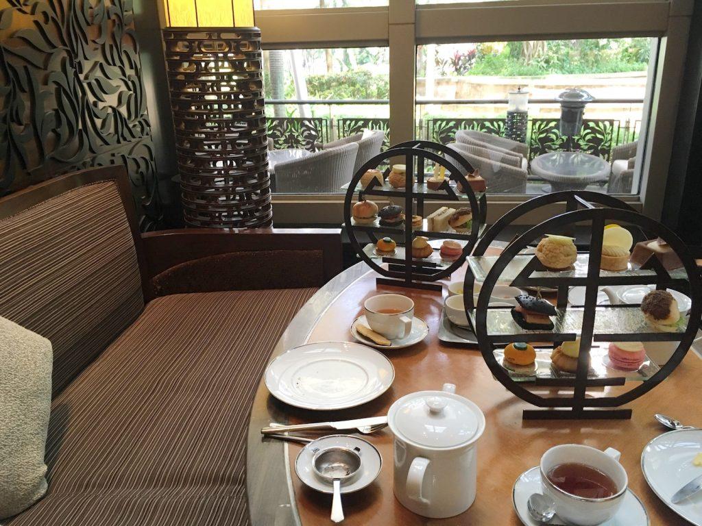mandarin oriental kuala lumpur afternoon tea table