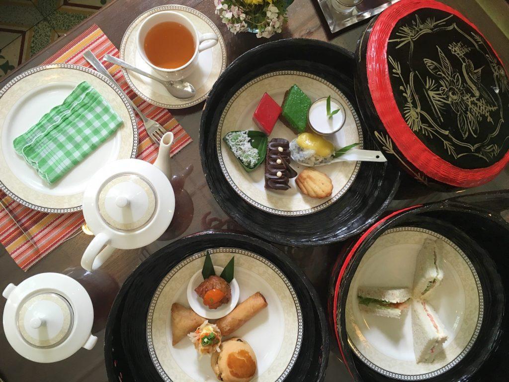 afternoon tea majestic malacca overhead