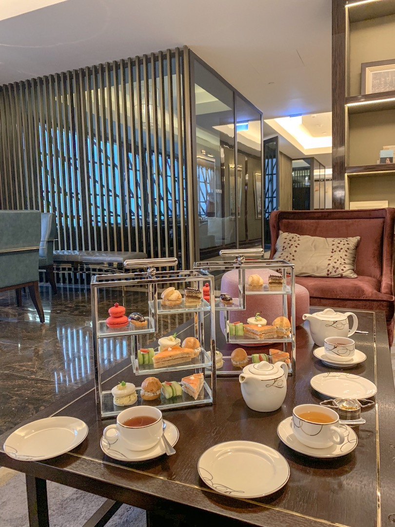 afternoon tea fairmont amman spread