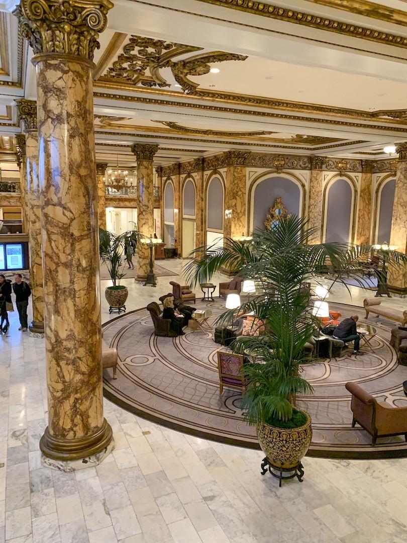 Fairmont San Francisco lobby view