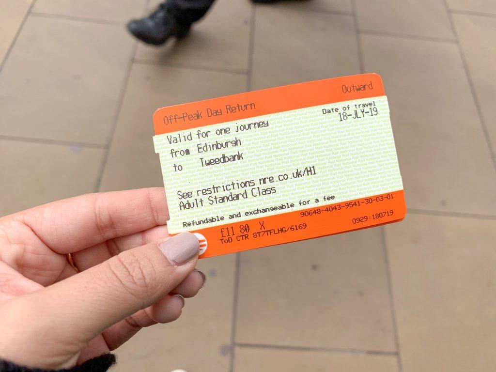 Waverly Station Train Ticket